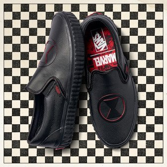 Vans Classic Slip-On x Marvel Black Widow VA38F7U7K női sneakers cipő 27dd3a68b7