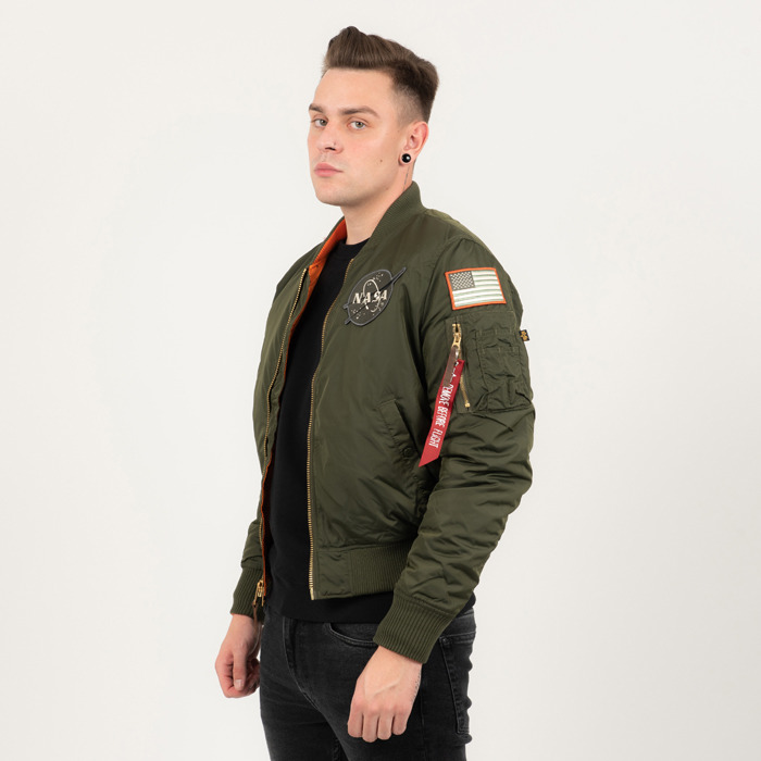 19b97879d7 Alpha Industries MA-1 VF NASA RP 178121 257 | ZÖLD | 58 307,69 Ft ...
