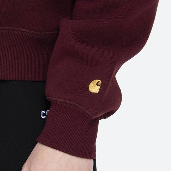 Carhartt WIP W' Chase Sweat I028391 BORDEAUX/GOLD