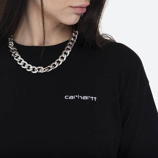 Carhartt WIP W' S/S Script Embroidery T-Shirt I028441 BLACK/WHITE